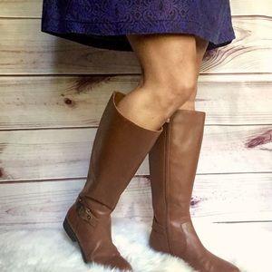 Anne Klein Leather Boots 6.5
